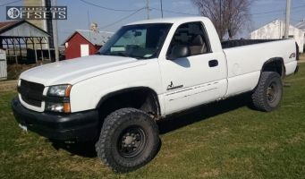 "2003 Chevrolet Silverado 2500 HD - 16x8 0mm - Black Rock D Widow - Stock Suspension - 33"" x 12.5"""