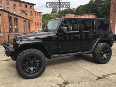 """2014 Jeep Wrangler - 20x10 -25mm - Gear Off-Road Trident - Suspension Lift 2.5"""" - 35"""" x 12.5"""""""