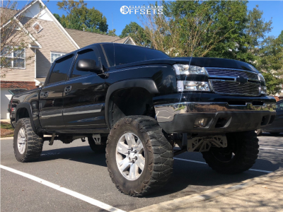 """2006 Chevrolet Silverado 1500 - 20x8.5 31mm - Spaced Out Stockers Spaced Out Stockers - Suspension Lift 7"""" - 37"""" x 13.5"""""""