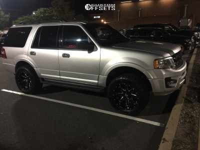 """2017 Ford Expedition - 20x10 -19mm - Hostile Alpha - Suspension Lift 2.5"""" - 33"""" x 12.5"""""""