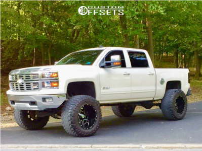 "2015 Chevrolet Silverado 1500 - 20x14 -76mm - Scorpion Sc10 - Suspension Lift 9"" - 38"" x 15.5"""