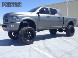 """2012 Ram 3500 - 22x12 -40mm - American Force Independence SS - Suspension Lift 9"""" - 37"""" x 13.5"""""""