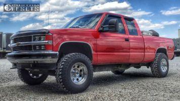 "1995 Chevrolet K1500 - 16x10 -25mm - American Racing Baja - Body Lift 3"" - 285/75R16"
