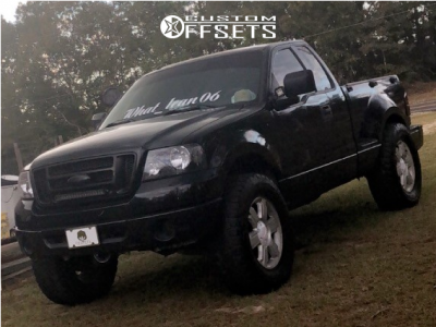 """2006 Ford F-150 - 20x8.5 44mm - Spaced Out Stockers Spaced Out Stockers - Leveling Kit & Body Lift - 37"""" x 12.5"""""""