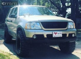 2003 Ford Explorer - 16x8 -6mm - Pro Comp Series 52 - Leveling Kit & Body Lift - 305/70R16