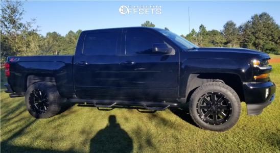 2018 Chevrolet Silverado 1500 - 20x10 -24mm - Moto Metal Mo962 - Leveling Kit - 285/55R20