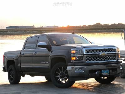 2015 Chevrolet Silverado 1500 - 20x9 0mm - Raceline Shift - Stock Suspension - 305/50R20