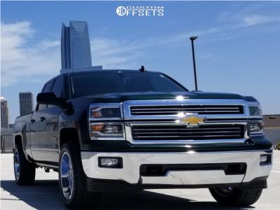 "2015 Chevrolet Silverado 1500 - 20x10 -24mm - XD Xd820 - Level 2"" Drop Rear - 285/50R20"