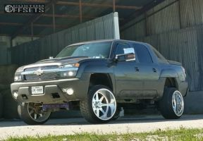"""2003 Chevrolet Avalanche - 24x14 -73mm - American Force INDEPENDENCE SS - Suspension Lift 7.5"""" - 305/35R24"""