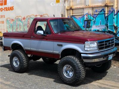 "1996 Ford Bronco - 15x12 -73mm - Weld Racing Scorpio - Suspension Lift 6"" & Body 3"" - 37"" x 14.5"""