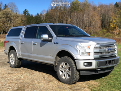 """2017 Ford F-150 - 20x8.5 44mm - Spaced Out Stockers Spaced Out Stockers - Suspension Lift 3"""" - 285/65R20"""