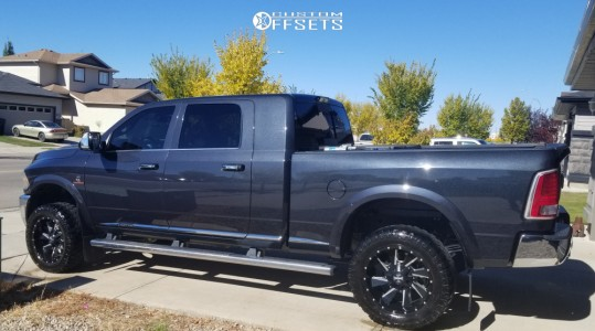 2017 Ram 3500 - 20x10 -19mm - Cali Offroad Distorted - Leveling Kit - 305/55R20