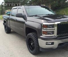 "2014 Chevrolet Silverado 1500 - 20x9 0mm - Hostile Gauntlet - Leveling Kit - 33"" x 12.5"""