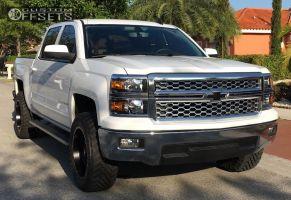 "2015 Chevrolet Silverado 1500 - 20x10 -12mm - Fuel Maverick - Leveling Kit - 33"" x 12.5"""