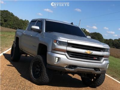 "2016 Chevrolet Silverado 1500 - 22x12 -44mm - Fuel Crush - Suspension Lift 10"" - 35"" x 12.5"""