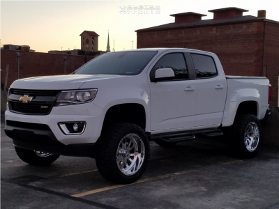 """2016 Chevrolet Colorado - 20x10 -24mm - American Force Octane Ss - Suspension Lift 5.5"""" - 32"""" x 11.5"""""""