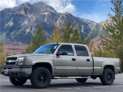 2003 Chevrolet Silverado 1500 HD - 18x9 -12mm - Xd Xd820 - Stock Suspension - 285/65R18