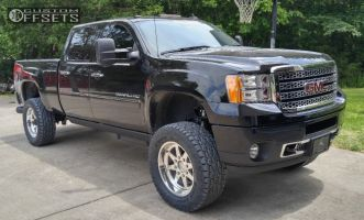 """2013 GMC Sierra 3500 HD - 20x9 0mm - American Force INDEPENDENCE SS - Suspension Lift 4"""" - 35"""" x 12.5"""""""