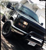 1998 Chevrolet K1500 - 16x8 0mm - Helo He879 - Leveling Kit - 265/70R16