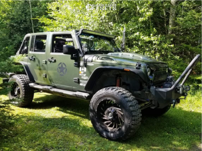 """2008 Jeep Wrangler - 20x10 -24mm - XF Offroad Xf-209 - Suspension Lift 3.5"""" - 35"""" x 12.5"""""""