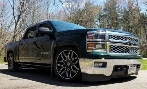 2014 Chevrolet Silverado 1500 - 22x9.5 15mm - Luxxx Alloys Lux7 - Lowered 5F / 7R - 275/40R22