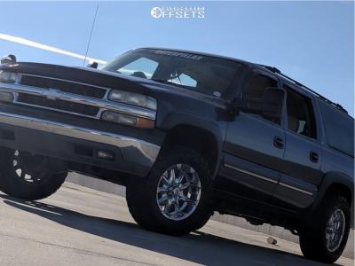 2002 Chevrolet Suburban 1500 - 18x9 -12mm - XD Badlands - Leveling Kit - 275/70R18