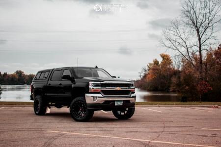 "2018 Chevrolet Silverado 1500 - 20x10 -24mm - Havok H112 - Suspension Lift 6.5"" - 35"" x 11.5"""