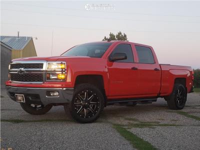 2014 Chevrolet Silverado 1500 - 20x9 1mm - Fuel Maverick D538 - Leveling Kit - 285/55R20