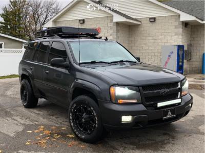 2007 Chevrolet Trailblazer - 17x9 1mm - Fuel Hostage - Leveling Kit - 245/70R17