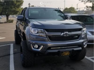"2016 Chevrolet Colorado - 20x12 -44mm - Moto Metal Mo962 - Suspension Lift 6"" - 33"" x 12.5"""