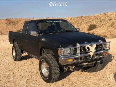 "1995 Nissan Pickup - 15x8 -19mm - American Racing Outlaw I - Body Lift 3"" - 31"" x 10.5"""