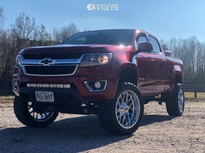 "2016 Chevrolet Colorado - 22x10 -18mm - Moto Metal Mo986 - Suspension Lift 6"" - 33"" x 12.5"""
