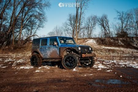 "2015 Jeep Wrangler - 22x12 -44mm - RBP 71r - Suspension Lift 4"" - 37"" x 13.5"""