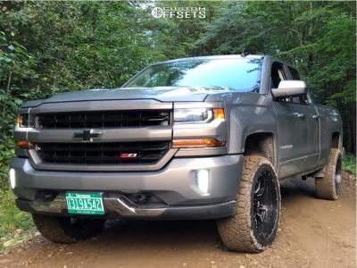 2017 Chevrolet Silverado 1500 - 20x10 -18mm - Fuel Vandal - Leveling Kit - 285/55R20