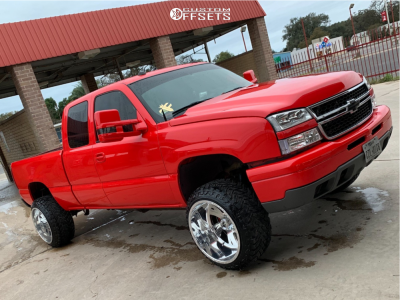 "2004 Chevrolet Silverado 1500 - 22x14 -76mm - Fuel Forged Ff32 - Body Lift 3"" - 33"" x 12.5"""