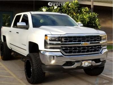 "2018 Chevrolet Silverado 1500 - 20x12 -44mm - RBP 65r - Suspension Lift 6"" - 33"" x 12.5"""