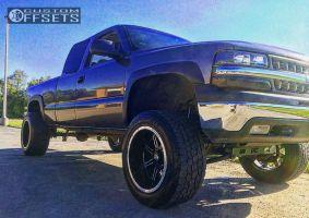 "1999 Chevrolet Silverado 1500 - 20x12 -51mm - Vision Cannibal - Suspension Lift 6"" - 305/55R20"