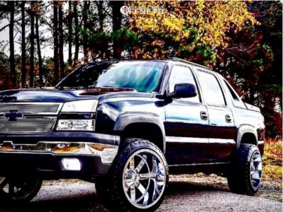 "2004 Chevrolet Avalanche - 22x14 -76mm - Moto Metal Mo976 - Body Lift 3"" - 33"" x 12.5"""