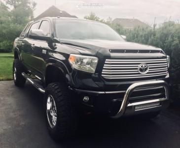 """2015 Toyota Tundra - 20x10 -18mm - Fuel Triton D609 - Suspension Lift 8"""" - 37"""" x 12.5"""""""
