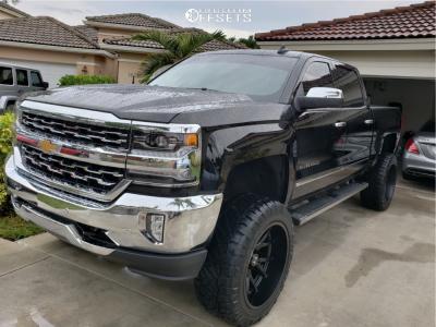 "2018 Chevrolet Silverado 1500 - 22x12 -44mm - Hostile Rage - Suspension Lift 7"" - 35"" x 12.5"""