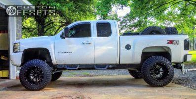 "2012 Chevrolet Silverado 1500 - 20x14 -76mm - Fuel Maverick - Lifted >9"" - 37"" x 13.5"""