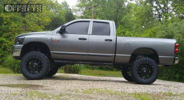 "2007 Dodge Ram 2500 - 20x10 -25mm - Mayhem Warrior - Suspension Lift 6"" - 37"" x 12.5"""