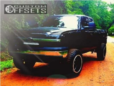"2004 Chevrolet Silverado 1500 - 20x12 -51mm - Vision Cannibal - Suspension Lift 6"" - 35"" x 12.5"""