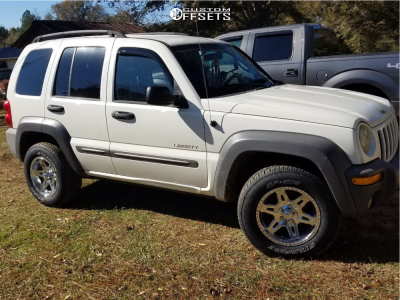 2004 Jeep Liberty - 16x8 10mm - Ultra Badlands - Stock Suspension - 235/70R16