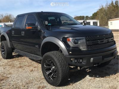 "2014 Ford Raptor - 20x10 -18mm - Fuel Assault - Suspension Lift 4"" - 35"" x 12.5"""
