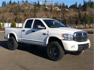 "2008 Dodge Ram 3500 - 20x10 -18mm - Fuel Ignite - Leveling Kit - 35"" x 12.5"""