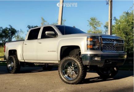 "2014 Chevrolet Silverado 1500 - 20x9 0mm - Moto Metal Mo962 - Suspension Lift 6.5"" - 33"" x 12.5"""