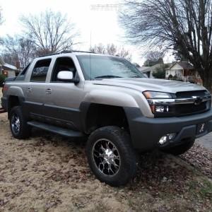 "2003 Chevrolet Avalanche 1500 - 20x9 0mm - Mayhem Warrior - Suspension Lift 6"" - 275/65R20"