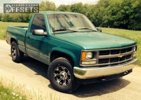 1995 Chevrolet K1500 - 16x8 0mm - Raceline Commando 903 - Stock Suspension - 265/70R16