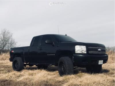 "2009 Chevrolet Silverado 1500 - 20x12 -51mm - Vision Rocker - Suspension Lift 6"" - 35"" x 12.5"""